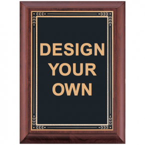 P3539 Cherry Award Plaque with Black Brass Plate