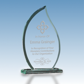 Donor Recognition Flame Glass Award