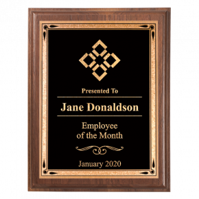 "Employee of the Month 5"" x 7"" Walnut Plaque"
