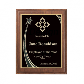 Employee of the Year Rising Star Walnut Plaque