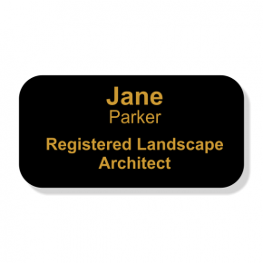 Engraved Registered Landscape Architect Name Tag