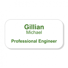 Professional Engineer Full Color Name Tag