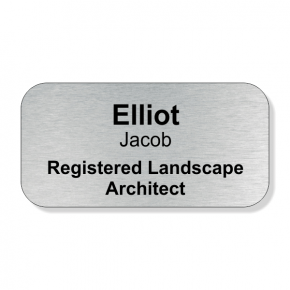 Registered Landscape Architect Full Color Name Tag
