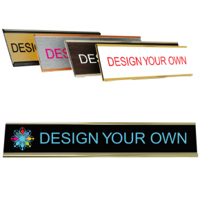 "Full Color Wall Name Plate - 2"" x 12"""