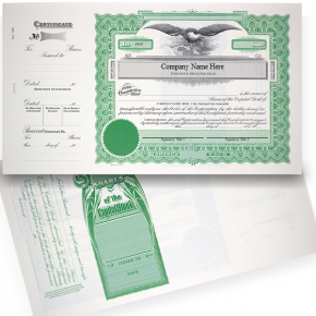 GOES 196 Corporate Stock Certificates | Quantity of 20 or More