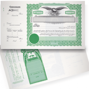 GOES 196 Blank Corporate Stock Certificates | Quantity of 20 or More