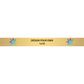 "Horizontal Full Color Brass Signs 1"" x 10"""