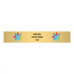 "Horizontal Full Color Brass Signs 1"" x 6"""
