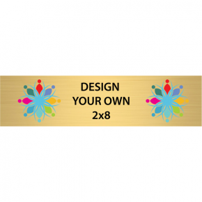 "Horizontal Full Color Brass Signs 2"" x 8"""