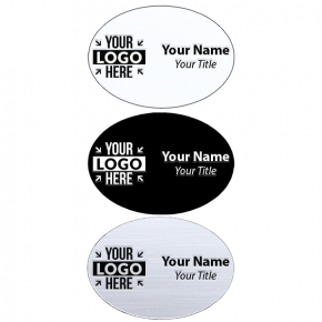 """Laser Engraved Oval Name Tag - 1.75"""" x 2.5"""""""