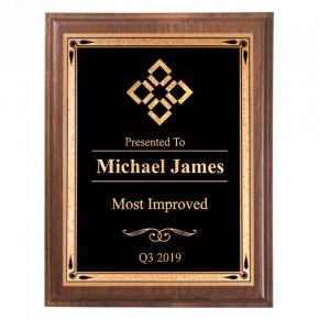 Most Improved 5 x 7 Walnut Plaque
