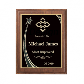 Most Improved Rising Star Walnut Plaque