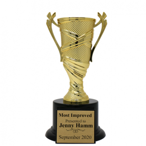 Most Improved Textured Cup Award Trophy