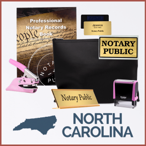 North Carolina Pink Deluxe Notary Kit