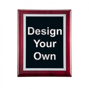 """Rosewood and Black 7"""" x 9"""" Wall Plaque"""