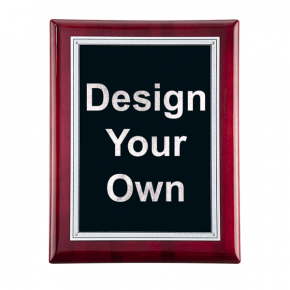 """Rosewood and Black 8"""" x 10"""" Wall Plaque"""