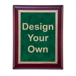 """Rosewood and Emerald 8"""" x 10"""" Wall Plaque"""