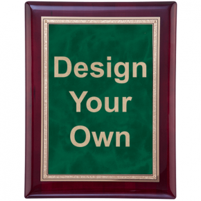 "Rosewood and Emerald 9"" x 12"" Wall Plaque"
