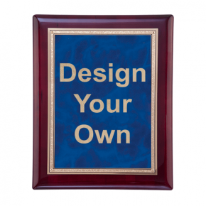 """Rosewood and Sapphire 8"""" x10"""" Wall Plaque"""