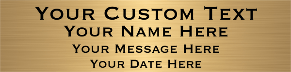 "Custom Four Line Brass Plates | 3"" x 12"""