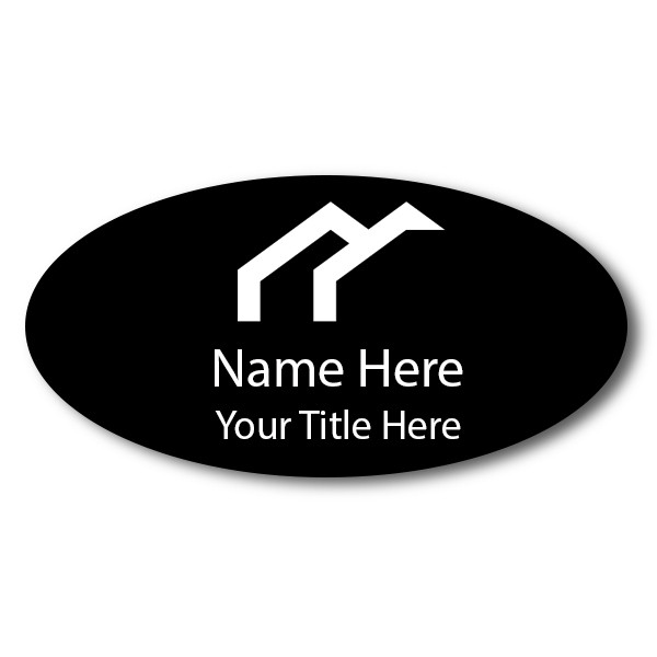 "Laser Engraved Oval Name Tag - 1.5"" x 3"""