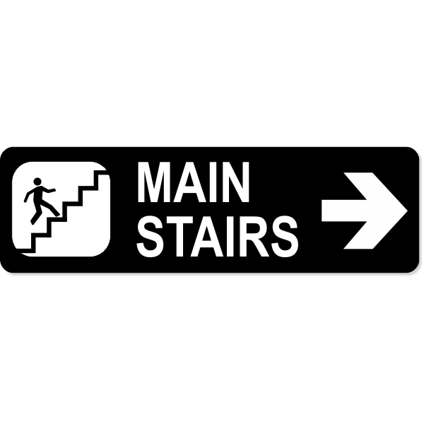 Stairs Right Sign
