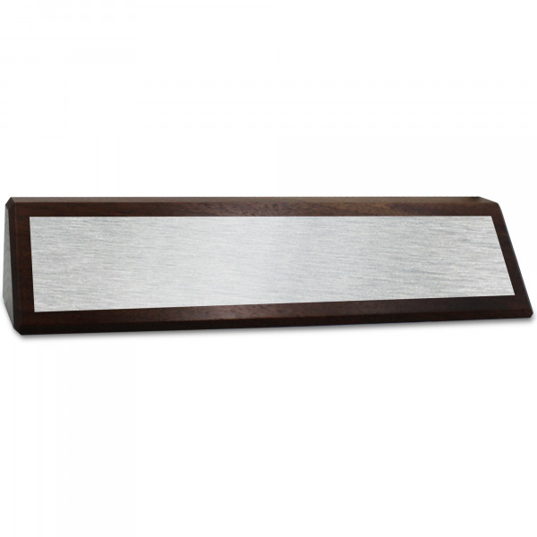 """2"""" x 8 1/2"""" Genuine Walnut Desk Wedge with Full Color Name Plate"""