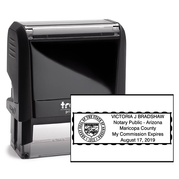 Arizona Notary Rectangular Stamp