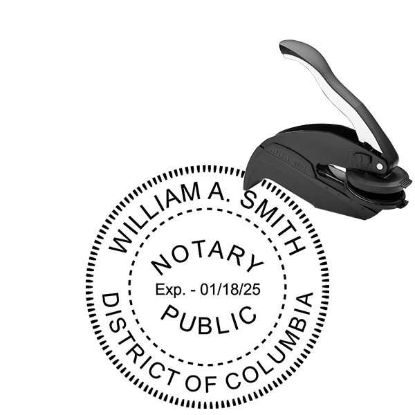 District of Columbia Washington DC Notary Public Seal