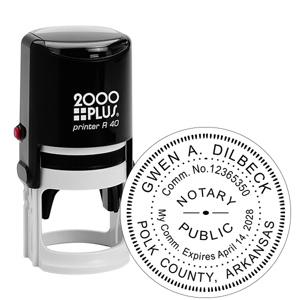 Arkansas Notary Round Stamp