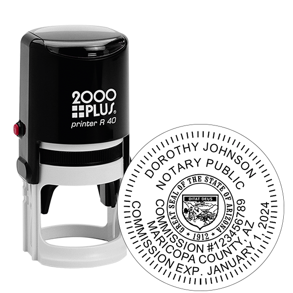 Arizona Notary Round Stamp