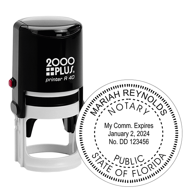Florida Notary Public Round Stamp