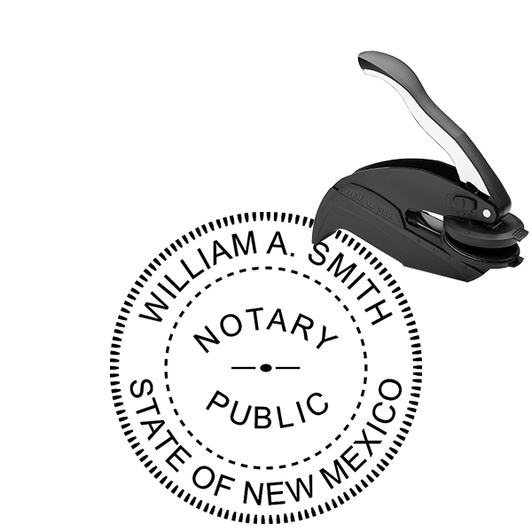 New Mexico Round Notary Seal Embosser