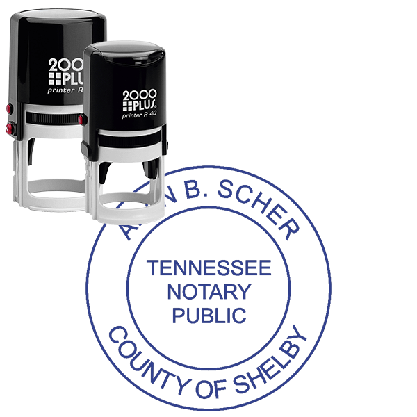 Tennessee Notary Round without Date
