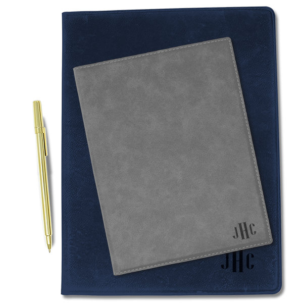 Monogram Leatherette Folio