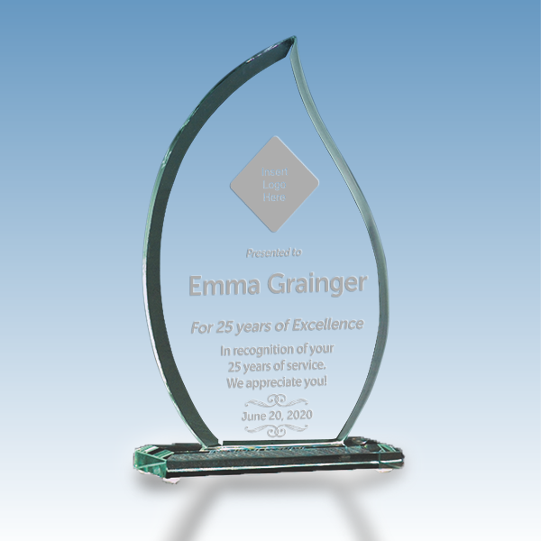 Career Recognition Flame Glass Award