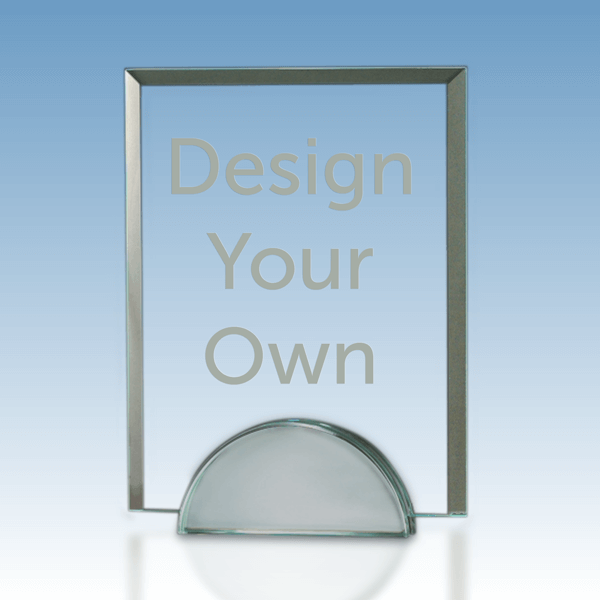 "Contemporary Beveled Clear Glass Award | 7"" x 9"""