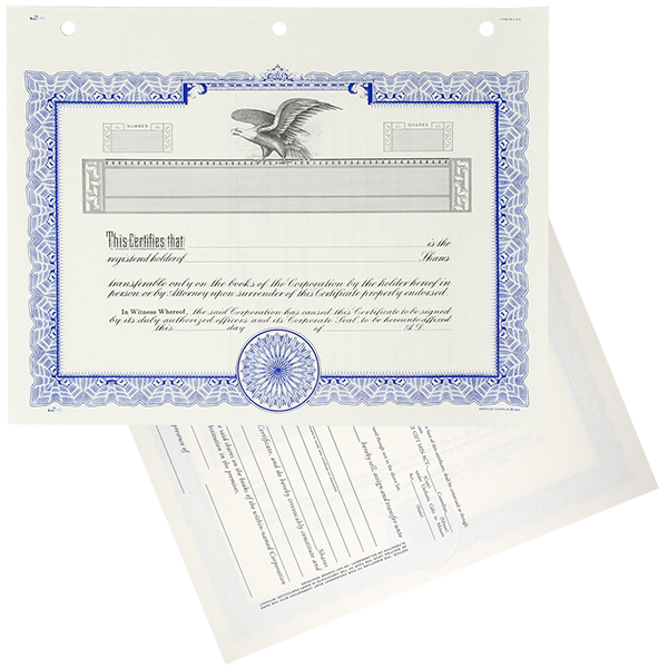 Duke 11 Blank Stock Certificates | Quantity of 20 or More