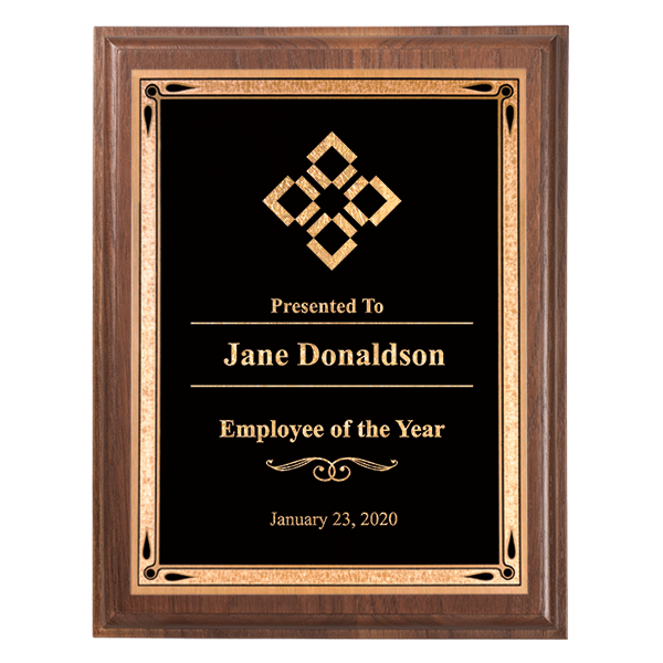 Employee of the Year 5 x 7 Walnut Plaque