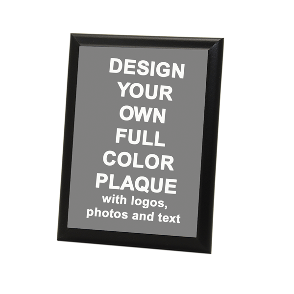 "Full Color 6"" x 8"" Photo Plaque with Black Edge"