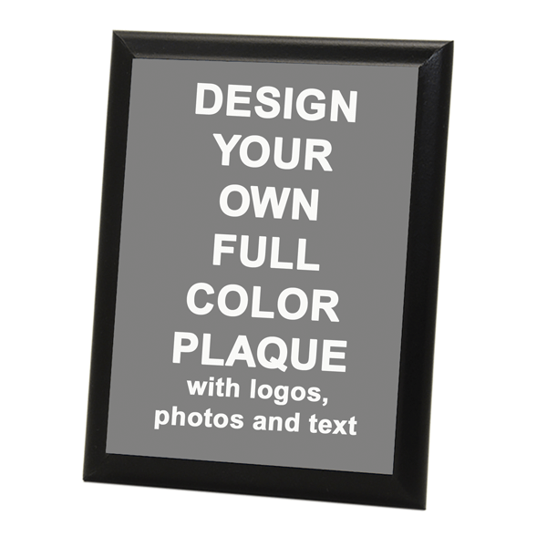 "Full Color 8"" x 10"" Photo Plaque with Black Edge"