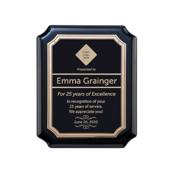 Donor Recognition Black and Gold Wall Plaques