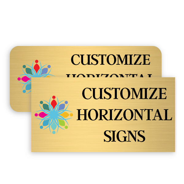 Horizontal Full Color Brass Signs