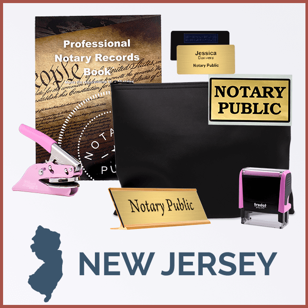 New Jersey Pink Deluxe Notary Kit