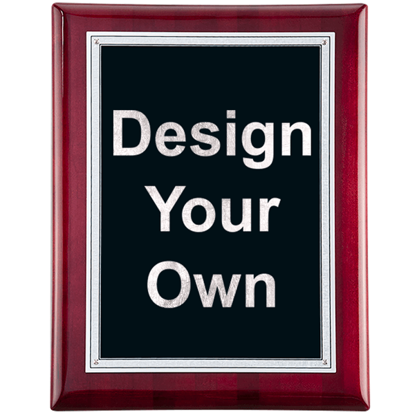 """Rosewood and Black 9"""" x 12"""" Wall Plaque"""