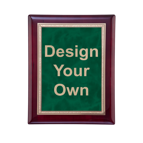 """Rosewood and Emerald 7"""" x 9"""" Wall Plaque"""