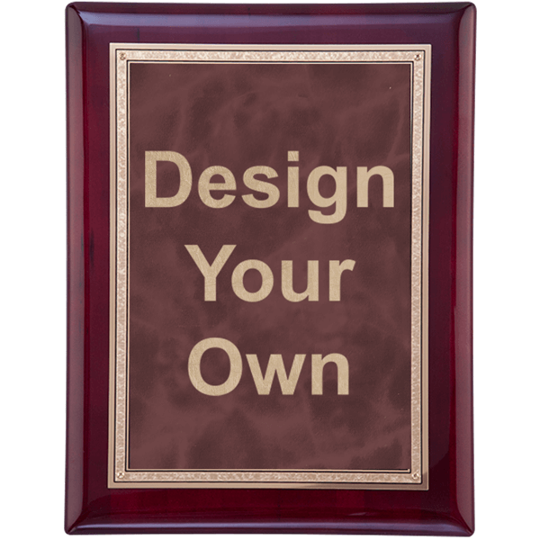 """Rosewood and Ruby 9"""" x 12"""" Wall Plaque"""