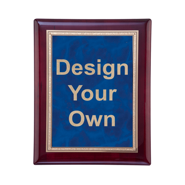 "Rosewood and Sapphire 7"" x 9"" Wall Plaque"