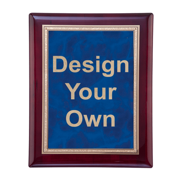 "Rosewood and Sapphire 8"" x10"" Wall Plaque"