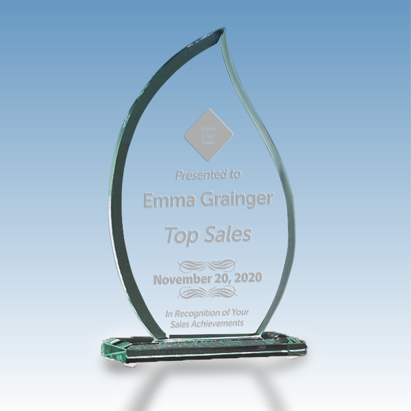 Sales Goal Flame Glass Award